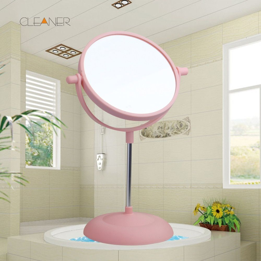 Bathroom Double Faced Bath Mirror Chinese Style  Lenses Material is Silver Not Equipped Light  Make up Mirror 5331