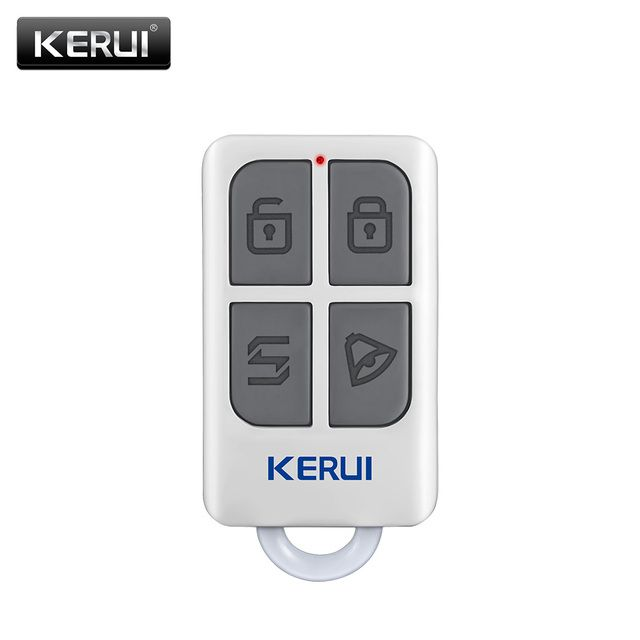 KERUI Wireless High-Performance Portable Remote Control 4 Buttons Keychain For WIFI GSM PSTN Home Security Alarm System