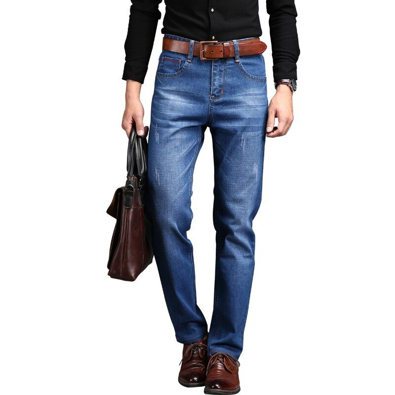 DEE MOONLY 2018 Men Brand Jeans Male Casual Straight Denim Men's Jeans Slim denim overall Wholesale Brand Jeans Biker jeans