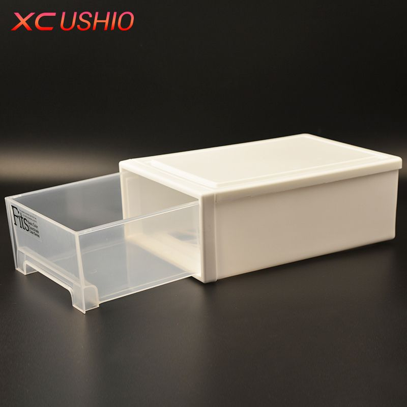 Thickened Single Layer Plastic Drawer Storage Box Organizer Transparent Toys Shoes Storage Box Case Combined Drawer Cabinet