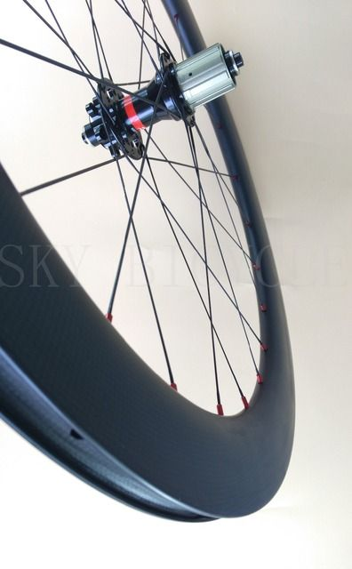 SKY TDAY 60mm Clincher road disc Rear bike wheel 24 holes 25mm width light aero spoke 6 bolt hub CX CycloCross carbon wheel