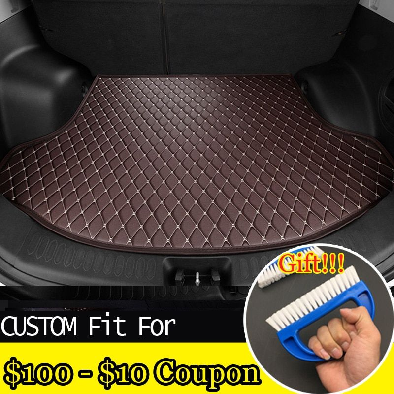 Accessories fit car trunk mat for Peugeot 206 207 2008 301 307 308sw 3008 408 4008 508 rcz car styling tray carpet cargo liner
