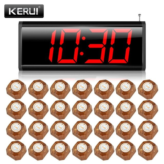 KERUI C2999 Wireless Calling System for Restaurant Service System+28 calling button LED display