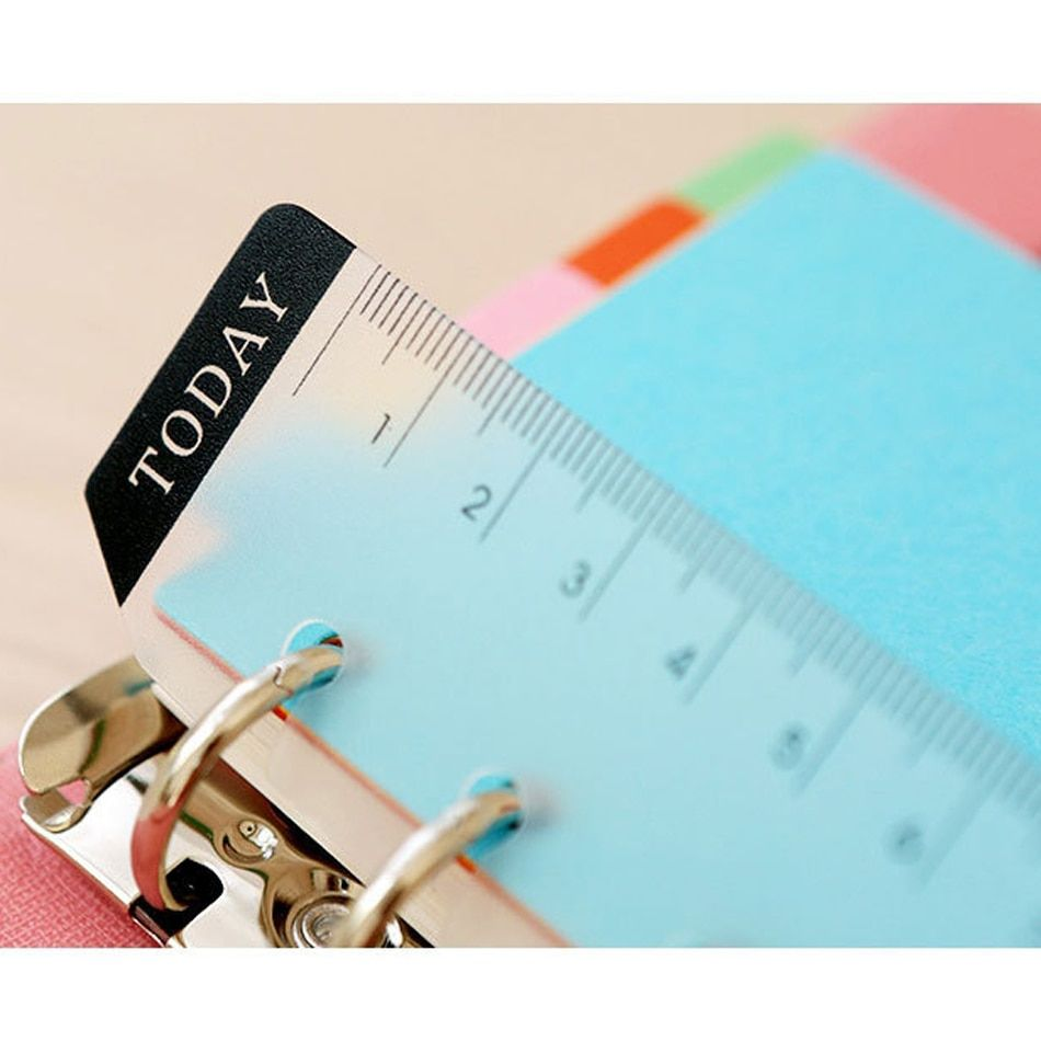 2016 New Straight books Ruler Loose-leaf Today Rulers Frosted Transparent Mint Cute Kawaii White Polka Dot Rulers free shipping