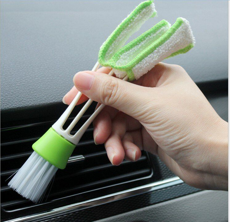 Double Head Cleaning Brush Outlet Shutter Window Cleaner keyboard Washer For Car Air-Condition Louver Computer Cleaning brush