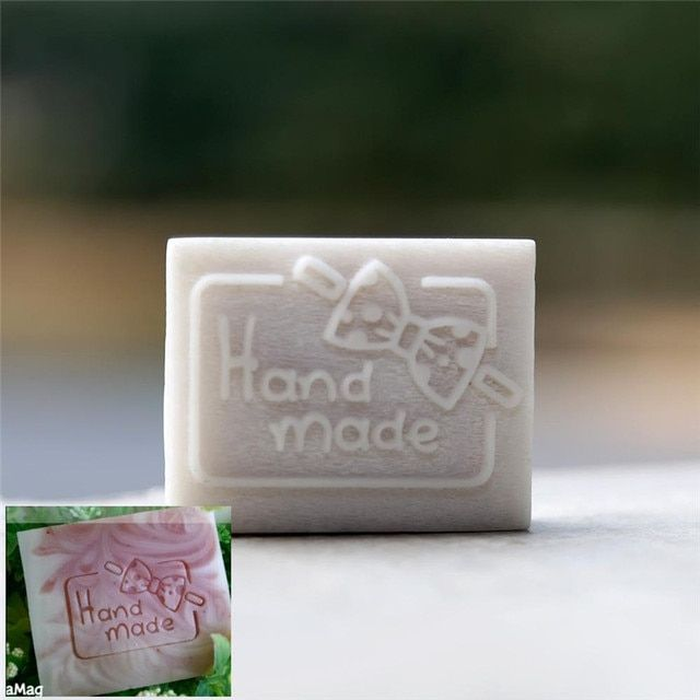 Handmade Bow-knot cute resin soap stamp custom DIY new resin seal Soap printed pattern bow-knot soap chapter