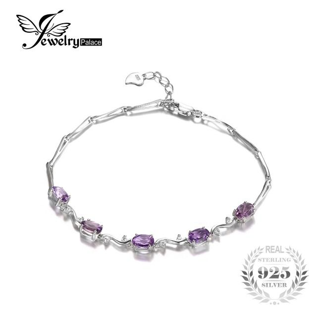 JewelryPalace Special  Genuine Amethyst Luxury  Bracelet 925 Sterling Silver Wholesale 2016 New Fine Jewelry For Fashion  Women