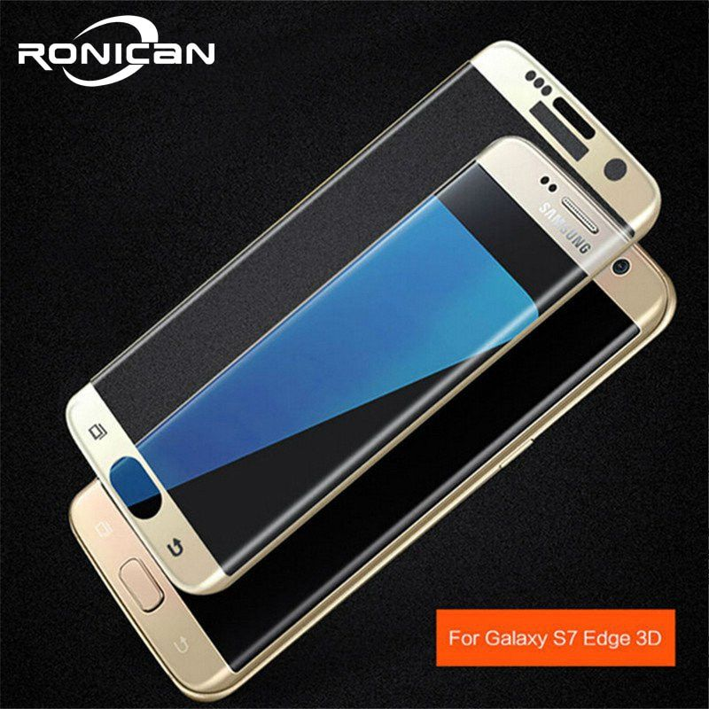 3D Full Cover Tempered Glass Screen Protector on Samsung Galaxy S7 Edge S7 Protective Film for Samsung S6edge S6 edge plus glass