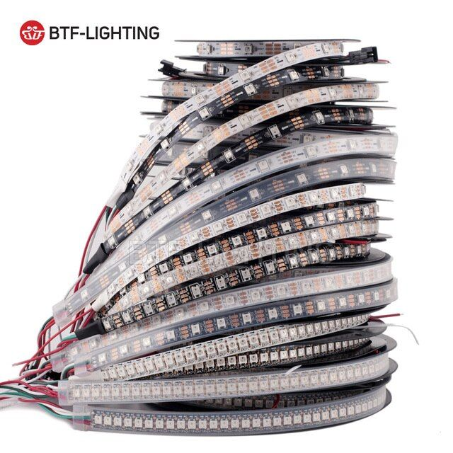 1m/4m/5m WS2812B 30/60/74/96/100/144 pixels/leds/m Smart led pixel strip,Black/White PCB,WS2812 IC;WS2812B/M,IP30/IP65/IP67 DC5V