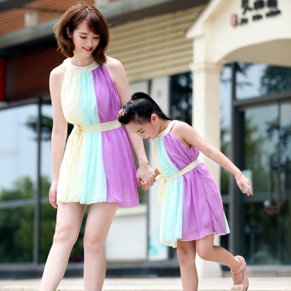 Matching Mother Daughter Clothes Family Look Girl and Mother Mommy and Me clothes Parent-child Outfit  Ma e Filha Dresses
