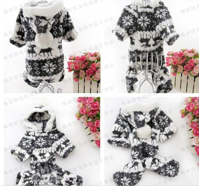 ( Russia Air express tracking number can track ) Snowflake Soft Fleece Dog clothes costume Yorkshire Chihuahua pet clothes