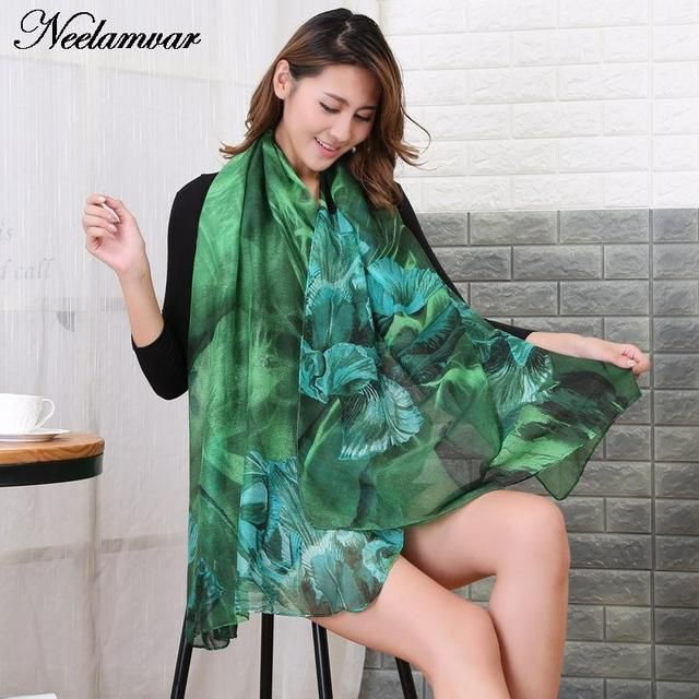 NEW Autumn  and Winter scarf women fashion long echarpe floral  printed scarves ladies stoles warm shawls hijab and bufandas