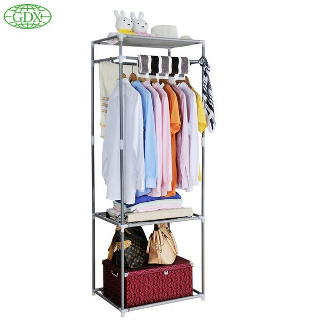 GDX Multi-functional Coat Closet Storage Holder Organizers Wardrobe Clothes Drying Garment Rack Hanger Home Simple DIY Shelves