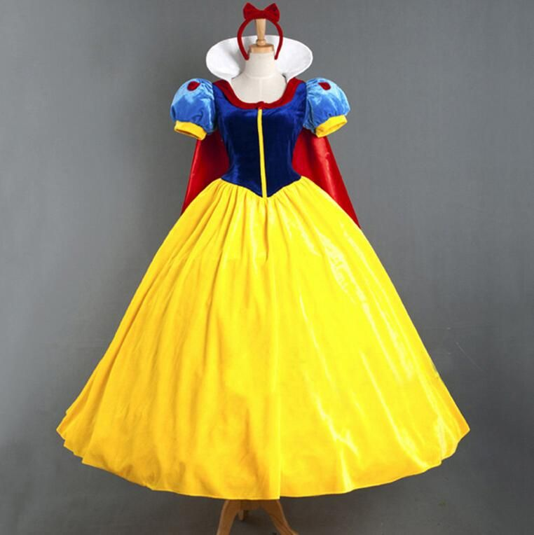 For Adult Women Princess Snow white Costume Cosplay Made Girls Ladies Fairytale Party Ball Halloween Dress