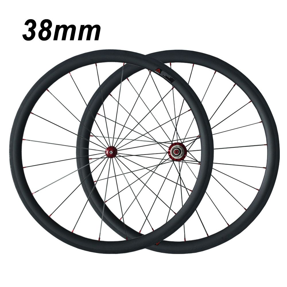Road bike 38mm depth 25mm width road bicycle carbon wheels 700C carbon clincher wheelset