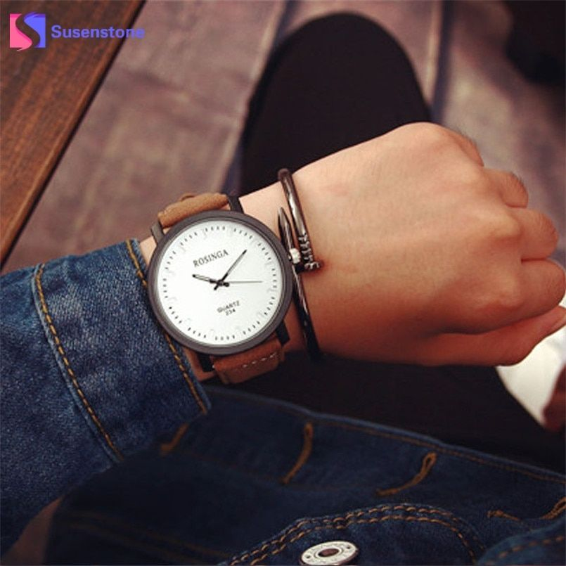 2019 New Couple Lover Watches Big Dial Quartz Wrist Watch Men Women Analog Faux Leather Bracelet Watches Relogio Feminino