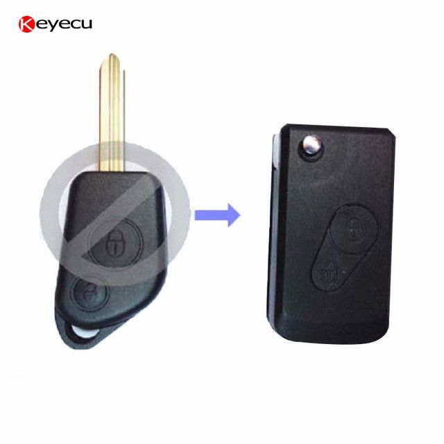 Keyecu Replacement Folding Remote Key Shell for CITROEN Saxo Xsara Picasso Berlingo 2B