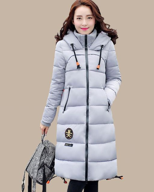 New Winter jacket Woman's Outerwear Slim Hooded Jacket Warm Women parkas Coat Women Ultra Light White Down cotton Parkas