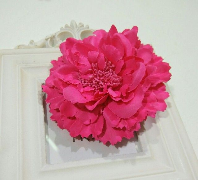 Fabric Flower Hair Clips,Flower Corsage Brooch Pins,Women Flower Headwear Wedding Party Gift