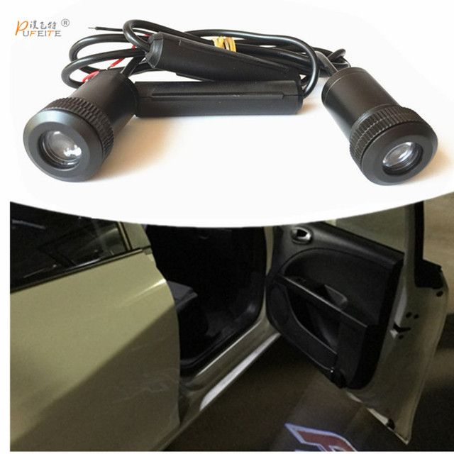 2/pcs car laser projector Logo Ghost Shadow Light universal for Lada priora Granta kalina niva largus for GAZ samara