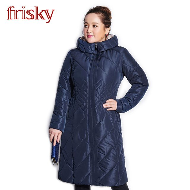 2016 Frisky High-quality Women's Winter Coat Jackets Thick Warm Wind Down Jacket Female Fashion Casual Parkas Plus Size FR2738