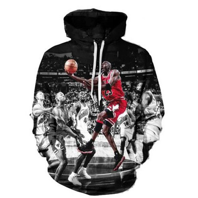 Jordan Hoodies Men 3d Print Painting Sweatshirt Designer Men's Sweatshirts Men/women's Harajuku Hoody