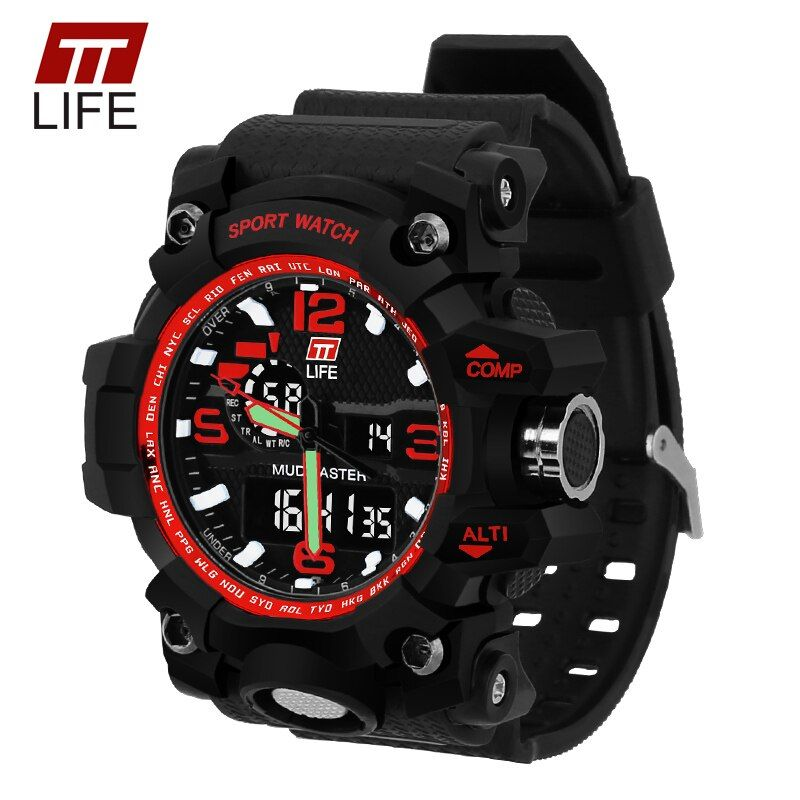 TTLIFE Brand Watch Men Sport Wristwatches Men Sports Watches LED Military 30m Waterproof Watch Men Relogio Masculino TS04