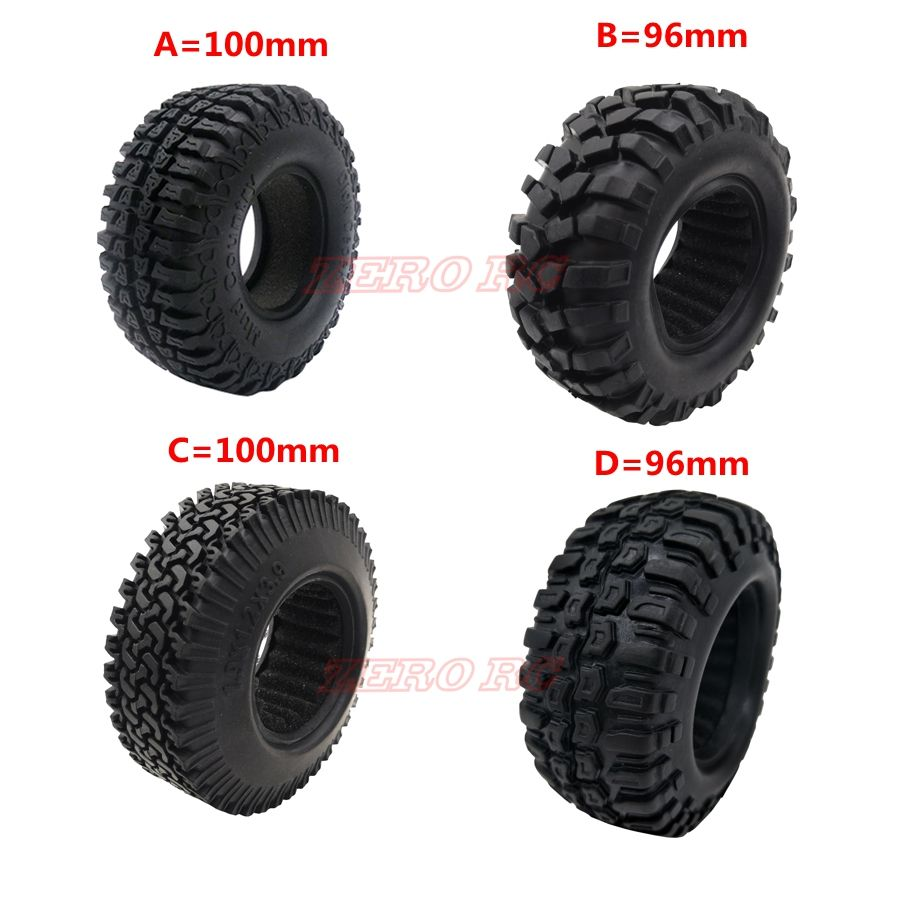 4PCS 1.9 inch 96MM 100MM Rock Crawler Car Tires Tyre For 1/10 RC Off Road Truck