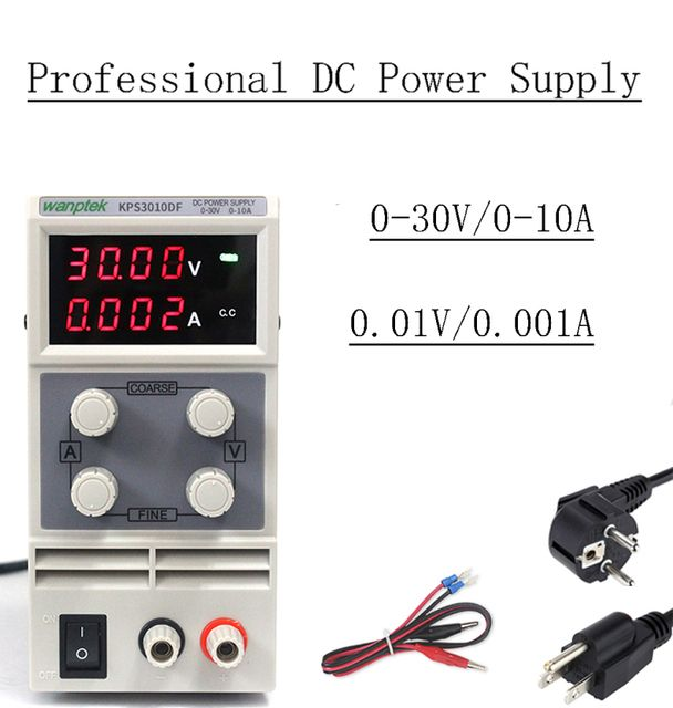 Free Shipping ! KPS3010DF Adjustable High precision LED display switch DC Power Supply protection function 30V10A 0.01V 0.001A