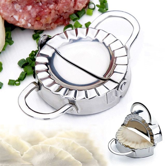 Eco-Friendly Pastry Tools Stainless Steel Dumpling Maker Wraper Dough Cutter Pie Ravioli Dumpling Mould Kitchen Accessories7.8cm