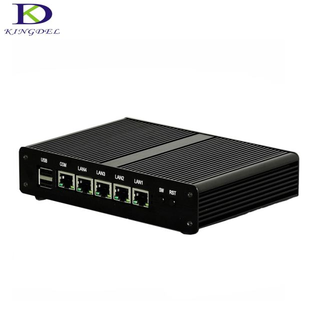 New arrived Fanless PC desktop Intel J1900 Quad Core 4 LAN mini PC Firewall Multi-function Router