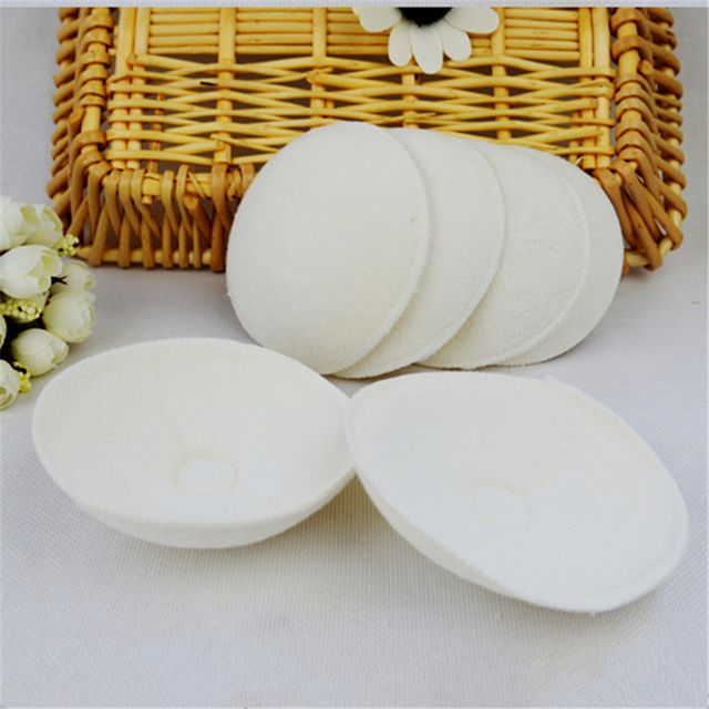 6Pcs Breast Feeding Nursing Reusable Soft Cotton Absorbent Mom Mother Spill Prevention Pads Bra Breast Feeding Washable