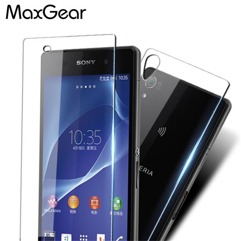 0.3MM Front + Back 2.5D Toughened Film Screen Protector Glass For Sony Xperia Z2 L50W L50u D6503 D6502 Tempered Glass