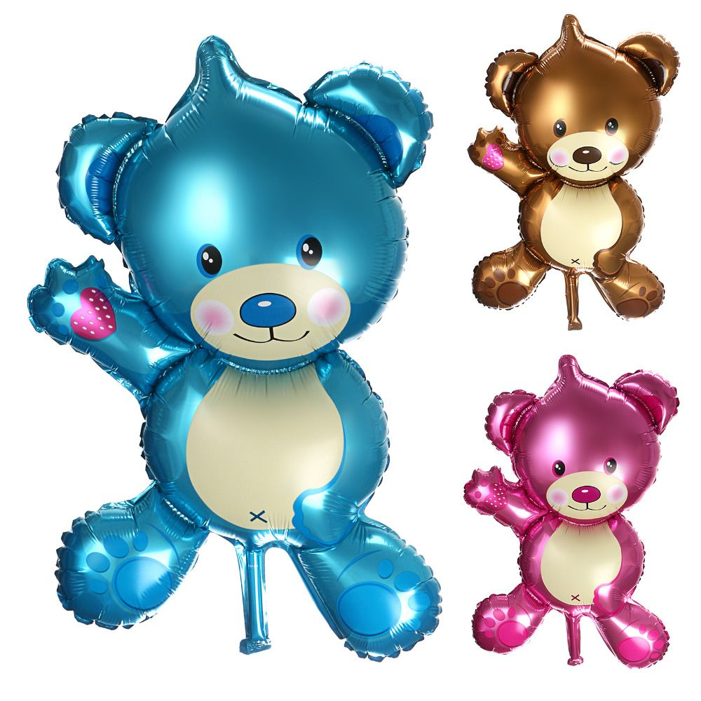 "32"" Baby Shower Air Balloon Birthday Party Decoration Foil Balloons Teddy Bear Balloons"