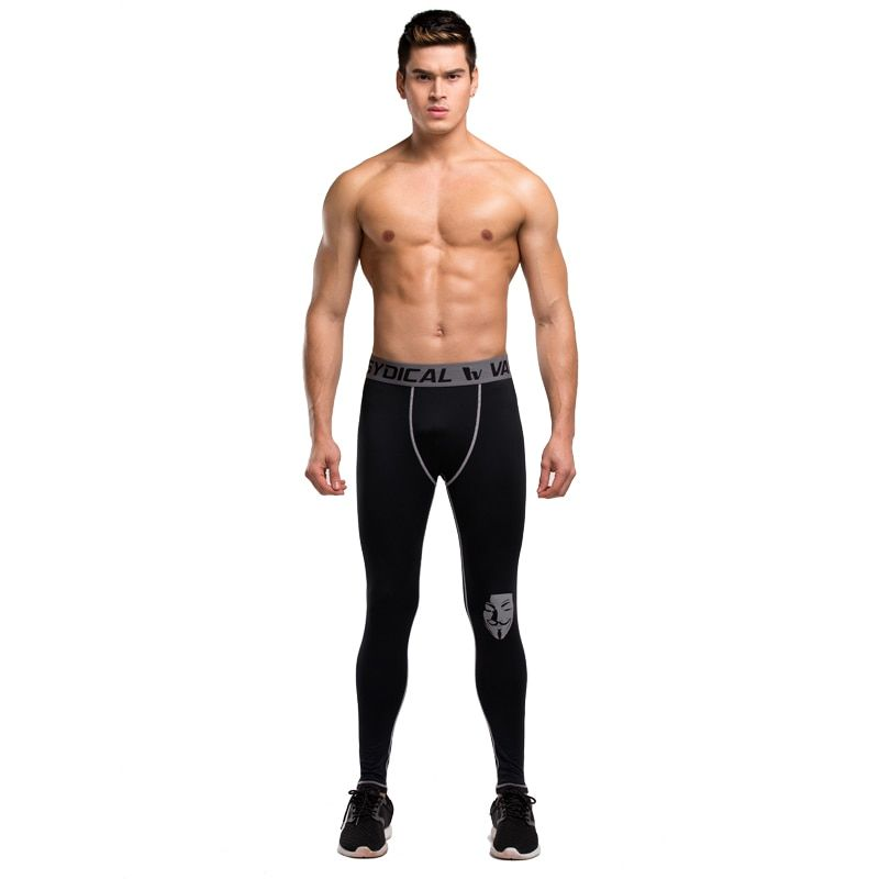 Men compression pants jogger tights pants exercise fitness leggings trousers