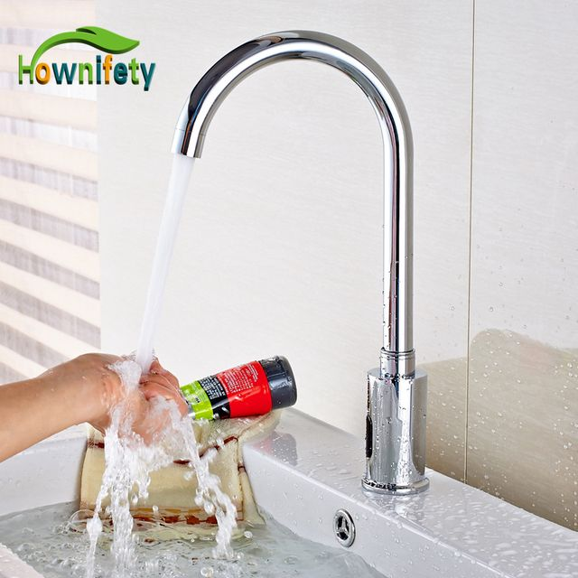 NEW Chrome Brass Bathroom Sink Faucet Automatic Sensor Vessel Tap For Cold Water