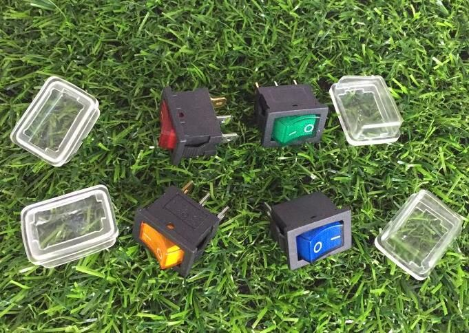 30set ON-OFF illuminated rocker switch+waterproof cover ,boat rocker switch with light 3pins