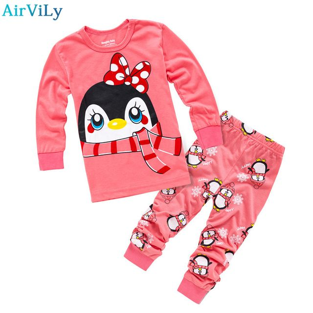 2017 New Baby Kids Cotton Underwear Suit Girls Sleepwear Trousers Cartoon Children Autumn Clothes Boys Pajama Sets Clothing