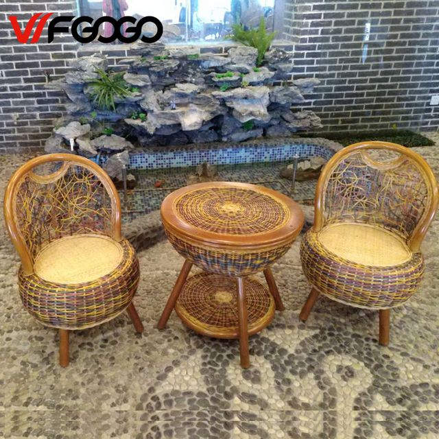 Leewince Furniture Rattan Color Garden Sets Chairs+Tables Indoor-Outdoor Restaurant Stack Coffee Tables Tables Weather Outdoor