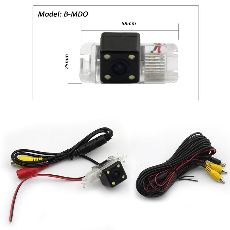 A-Sure Dynamic Track Color CCD Rear View Reverse WIRED Backup Camera for FORD MONDEO FIESTA S-Max KUGA
