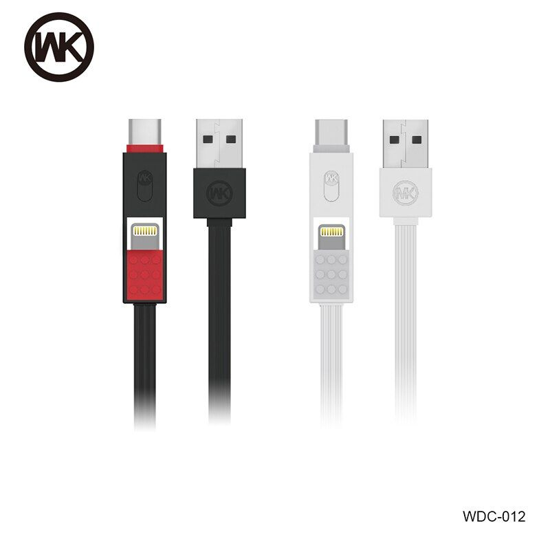 WK Pike three-in-one data cable For iOS /Android  / Type-c interface phone charging cable
