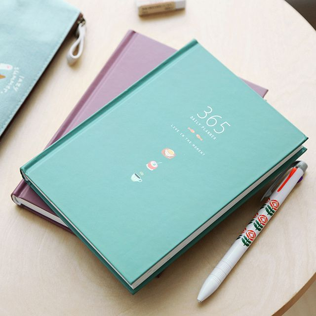1PC 365 days personal diary planner hardcover notebook diary office weekly schedule cute korean stationery