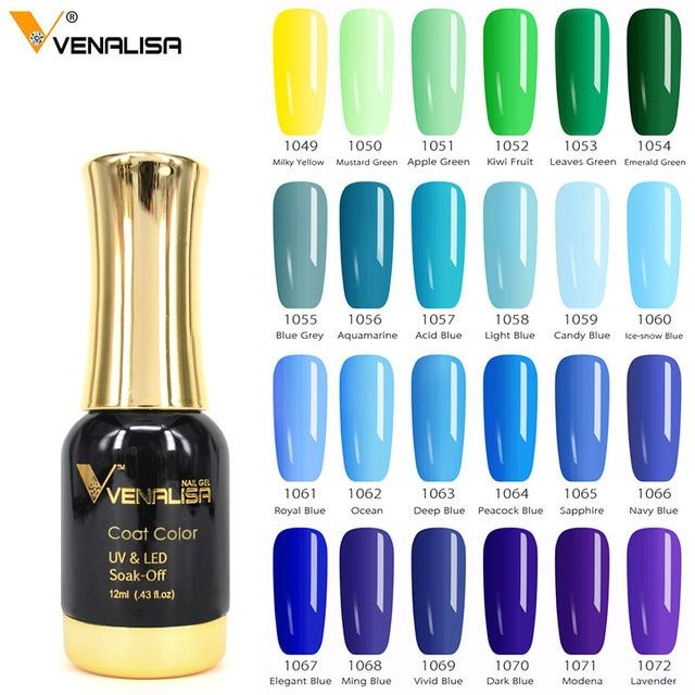 VENALISA One Step Color Gel Varnish Blue Series CANNI Nail Art Design Super Quality Soak off LED Organic Odorless UV Gel Polish