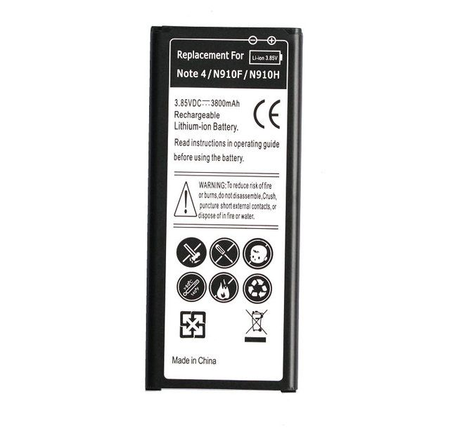 1x 3800mAh EB-BN910BBE EB-BN910BBK (BBU) Replacement Battery For Samsung Galaxy Note IV 4 N910 N910F N910H N910S N910U N910L
