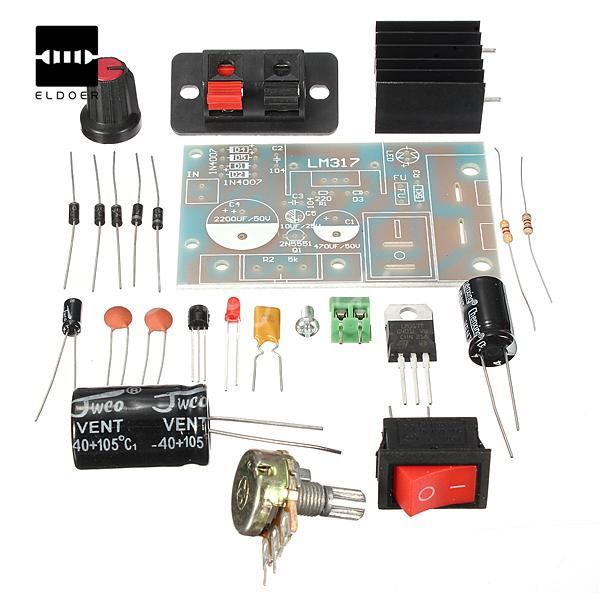 Electronic kit Circuit Board DIY Kit LM317 Adjustable Regulated Voltage Step-down Power Supply Suite Module