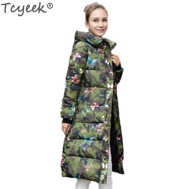 Tcyeek Fashion Winter Jacket Women 2019 Print Thick Warm Female jacket Cotton coat parkas jaqueta feminina inverno HH045
