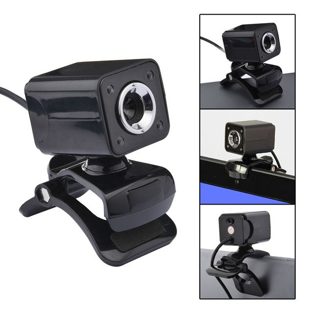 Superior Quality USB 2.0 Web Camera Glass Lens HD 1080p 12M Pixel 4 LED Webcam with Mic Microphone for PC Lotop