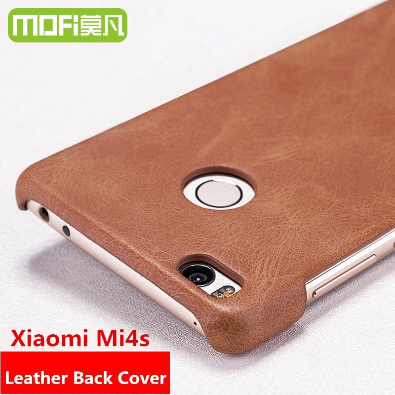"mofi case original xiaomi mi4s mi 4s leather cover black xiomi mi4s 5.0"" phone case 64gb dual sim cover 5 m4s free usb adaptor"