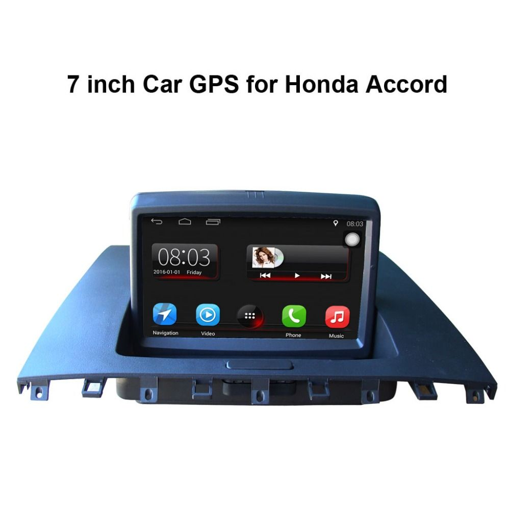 7 inch Android 7.1 Capacitance Touch Screen Car Media Player for Honda Accord 2003-2007 GPS Navigation Bluetooth Video player