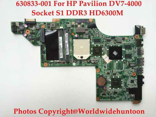 Genuine replacements for HP DV7-4000 Series motherboard 630833-001 DA0LX8MB6E1 Socket S1 DDR3 HD6300 Fully tested